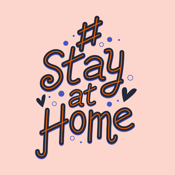 stay at home text