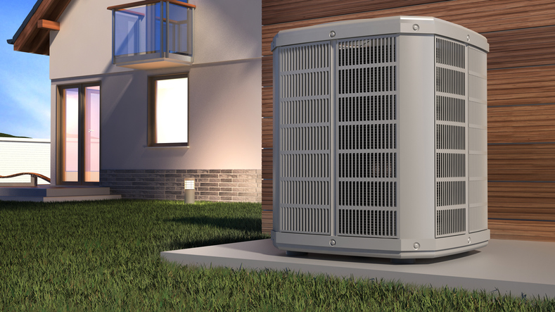 heat pump 3d illustration