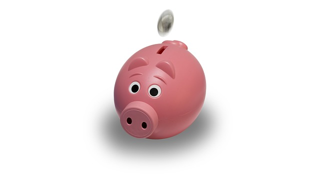 piggy bank save on heating costs