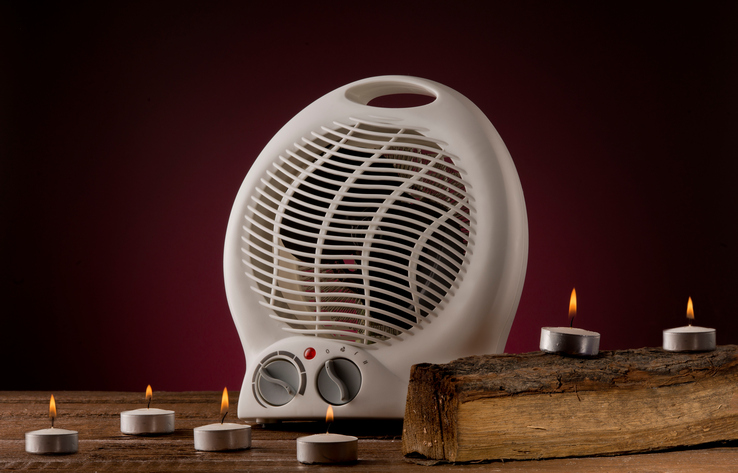 space heater and candles fire hazard