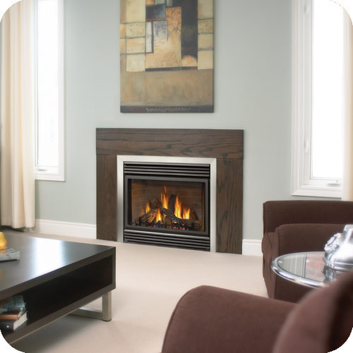 Natural vent gas fireplace installed in Ancaster